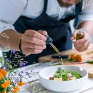 Ein leitender Restauranttester